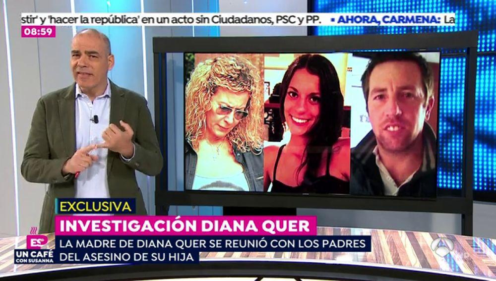 La madre de Diana Quer se reúne con los padres de 'el Chicle', asesino confeso de su hija