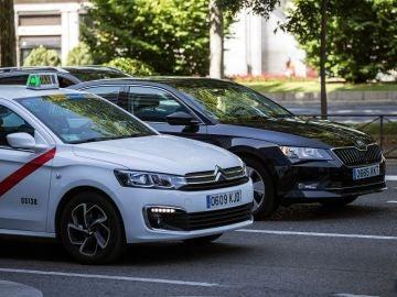 En la imagen, un taxi en el centro de Madrid.