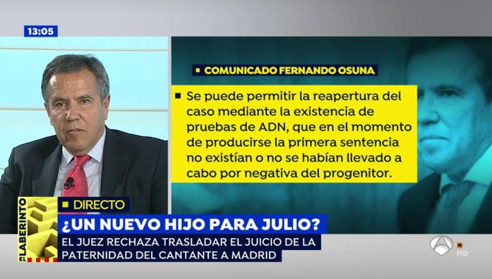 """Varapalo judicial para Julio Iglesias: """"Tarde o temprano tendrá que asumir la paternidad de su hijo"""""""