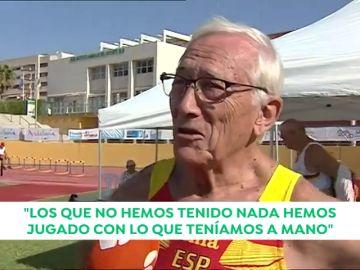 José María Sanza, 83 años y campeón del Mundo de Martillo en categoría de 80 años