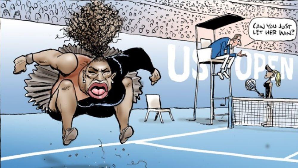 La viñeta de Mark Knight sobre Serena Williams