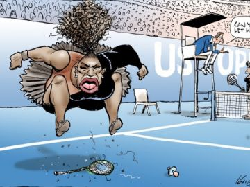 La viñeta de Mark Knight sobre Serena Williams