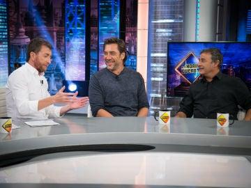 """Pablo Motos pregunta a Javier Bardem y Eduard Fernández: """"¿Sois amigos fuera del rodaje o los buenos actores se repelen?"""""""