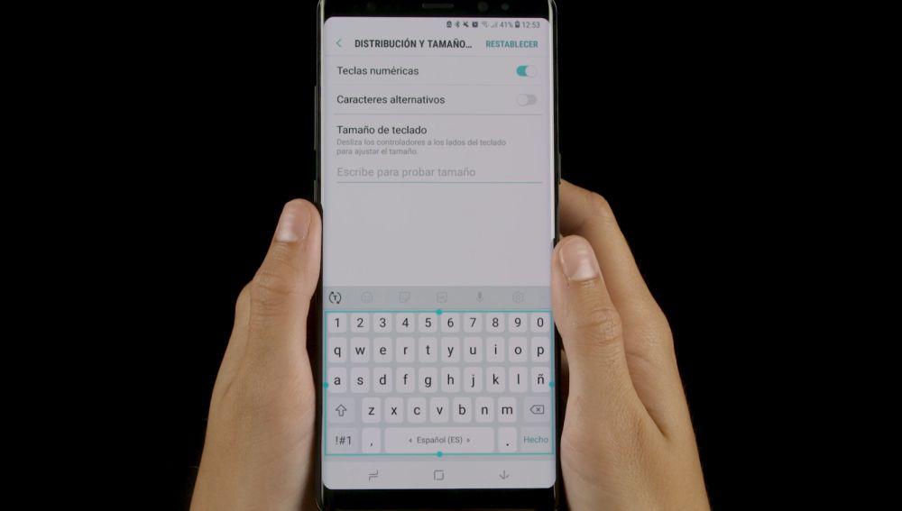 Teclado de móvil Android