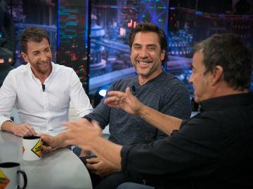 Javier Bardem y Eduard Fernández confiesan en 'El Hormiguero 3.0' su borrachera en una de las escenas de la película