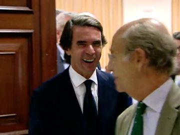 """Aznar, tras haber declarado durante más de cuatro horas: """"Me lo he pasado muy bien"""""""