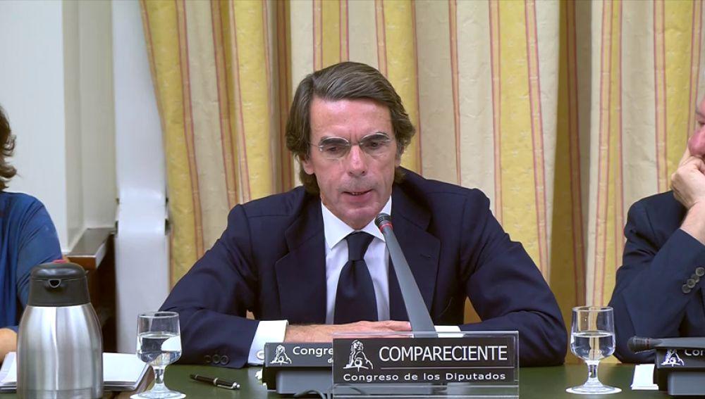 """Aznar: """"Manifiesto mi profunda preocupación por Eduardo Zaplana"""""""