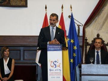 El Rey Felipe VI, en el Paraninfo de la Universidad de Salamanca
