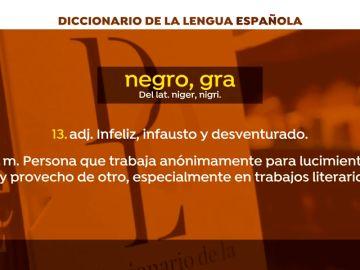 """La Red Española de Inmigración y Ayuda al Refugiado urge a la RAE a cambiar varias de las acepciones de """"negro"""""""
