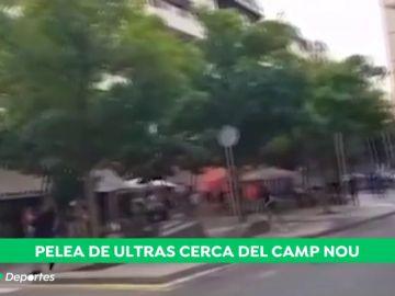 Graves incidentes entre ultras en los exteriores del Camp Nou