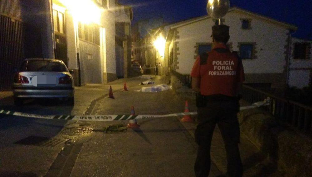 Tres muertos y tres detenidos por una reyerta entre dos familias en Cáseda, en Navarra