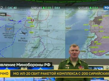 Abatido un avión ruso por un misil sirio