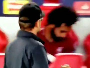 Salah, en el banquillo del Liverpool