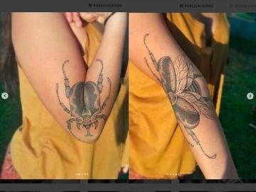 Un tatuador consigue hacer dos tatuajes en uno