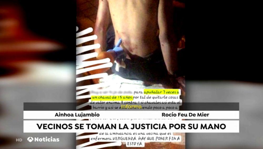 Los vecinos de un barrio de Sevilla dan una paliza a un hombre por apuñalar a un menor pero se equivocan de persona