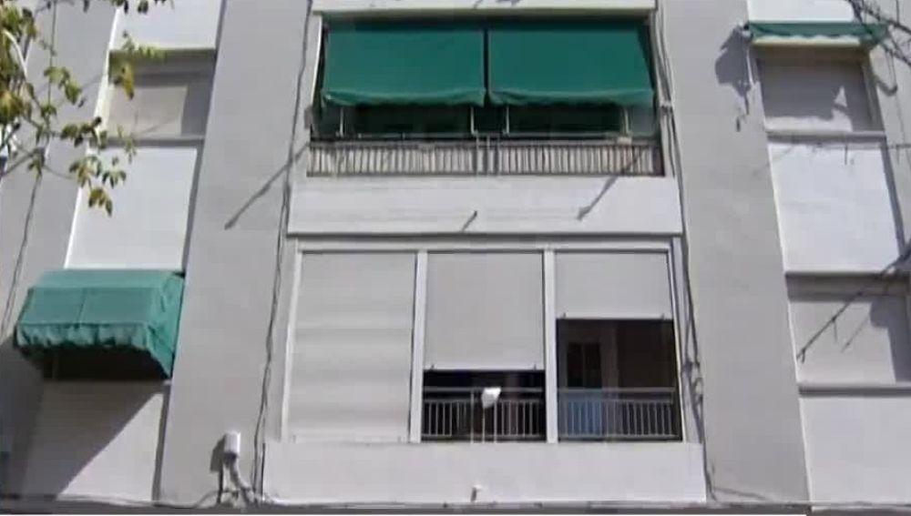 Fachada de la casa en la que entraron a robar