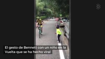 El bonito gesto del ciclista George Bennett con un niño que le animaba en la Vuelta
