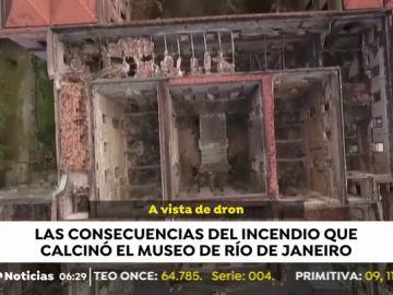 Las consecuencias del incendio que calcinó el museo de Río de Janeiro