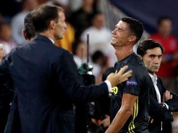 Cristiano Ronaldo se retira entre lágrimas de Mestalla