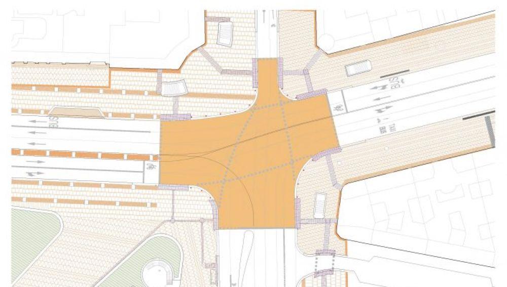 Proyecto del paso peatonal en Plaza España