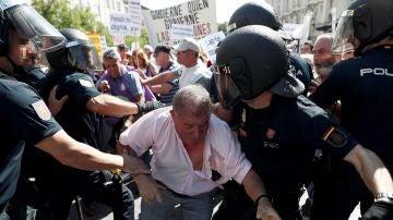 Protestas de los pensionistas en el Congreso