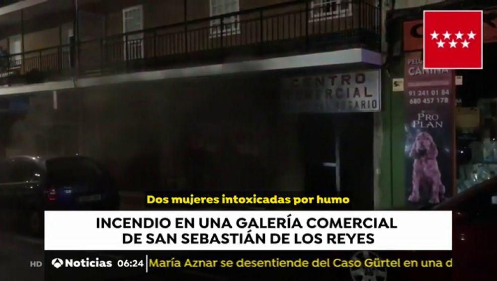 Incendio en una Galería Comercial de San Sebastián de los Reyes