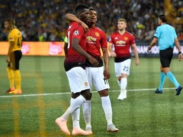 Paul Pogba celebra un gol ante el Young Boys
