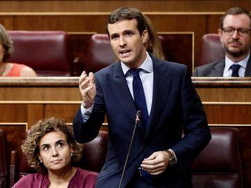 El líder del PP,Pablo Casado