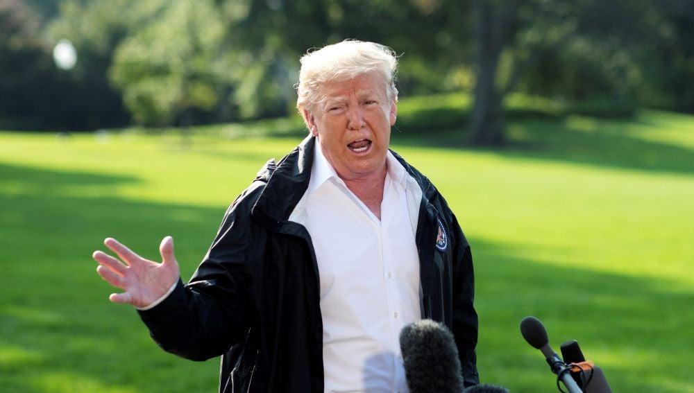 Trump visita Carolina del Norte tras el paso del huracán Florence