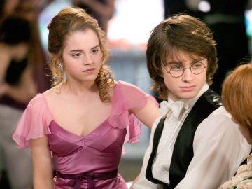 Hermione y Harry en 'El cáliz de fuego'