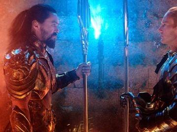 Jason Momoa y Patrick Wilson en 'Aquaman'
