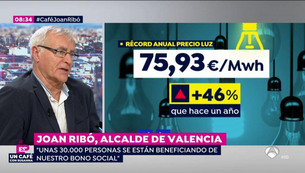 """Joan Ribó, alcalde de Valencia: """"Hay que garantizar que quienes tienen problemas para pagar la luz no se queden sin ella"""""""