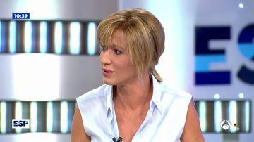 Las lágrimas de Susanna Griso durante la entrevista al hermano de la golfista española Celia Barquín