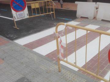 El paso de peatones pintado al revés
