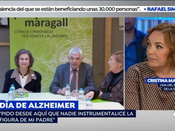 """Cristina Maragall: """"Mi padre está atento a la televisión pero ya no lee ni opina"""""""