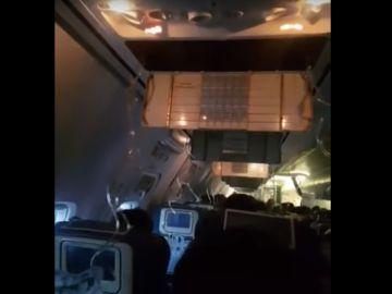 Imagen del interior del avión de Jet Airways