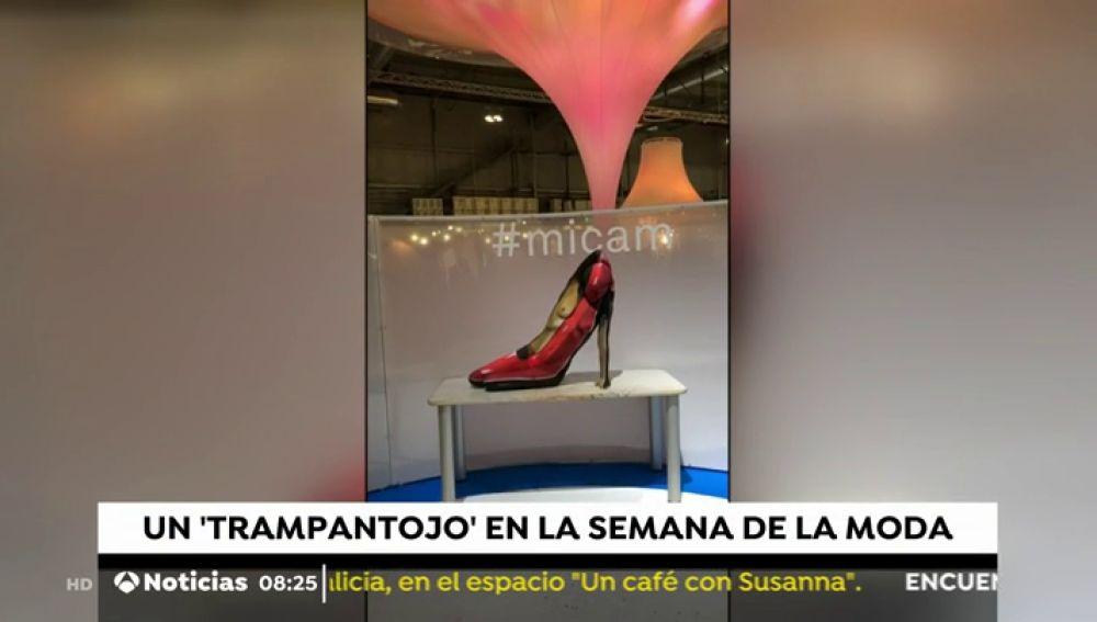 ¿Un zapato de tacón o una mujer pintada simulando ser un zapato?
