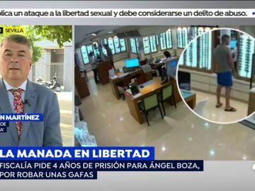"""El abogado de 'La Manada', sobre la condena de Ángel Boza por robar unas gafas de sol: """"La Fiscalía se está cebando porque no le gustó el juicio de Pamplona"""""""