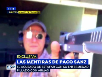 Pillan disparando a Paco Sanz, el estafador de los 2.000 tumores, después de que le retiraran las armas