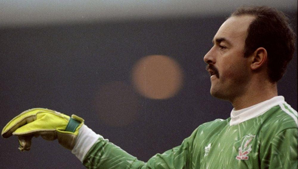 Bruce Grobbelaar, en un partido del Liverpool