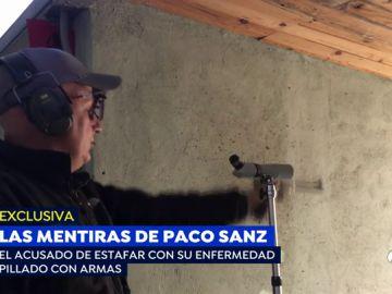 Graban disparando sin permiso de armas a Paco Sanz, el estafador de los 2.000 tumores