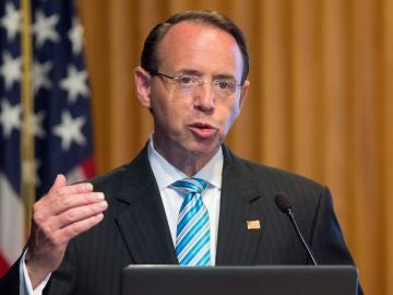 El vicefiscal general de EEUU, Rod Rosenstein