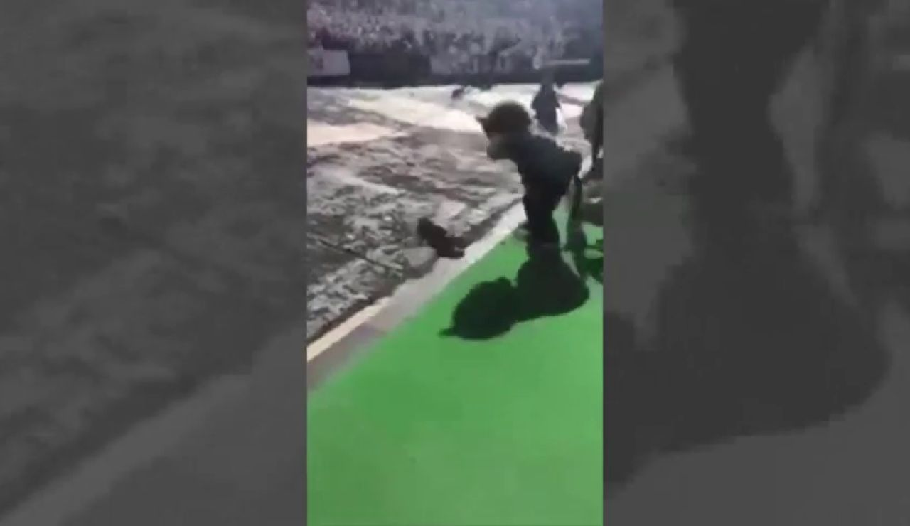 Una mascota de un equipo de fútbol americano se dispara accidentalmente en pleno partido