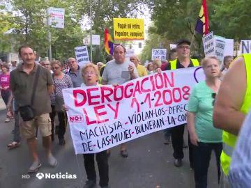 Protesta de los pensionistas en Madrid