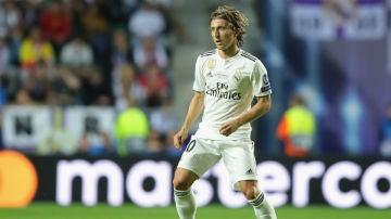 Luka Modric, en un partido con el Real Madrid