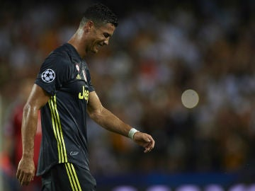 Cristiano, llorando