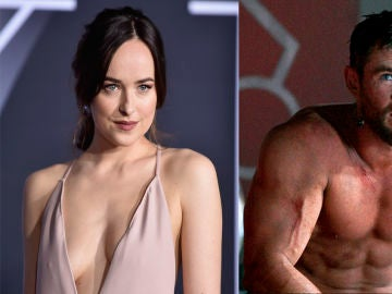 Dakota Johnson y Chris Hemsworth