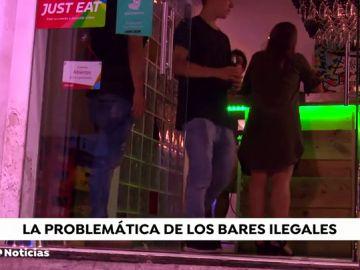 Los bares ilegales abarrotan el centro de Madrid