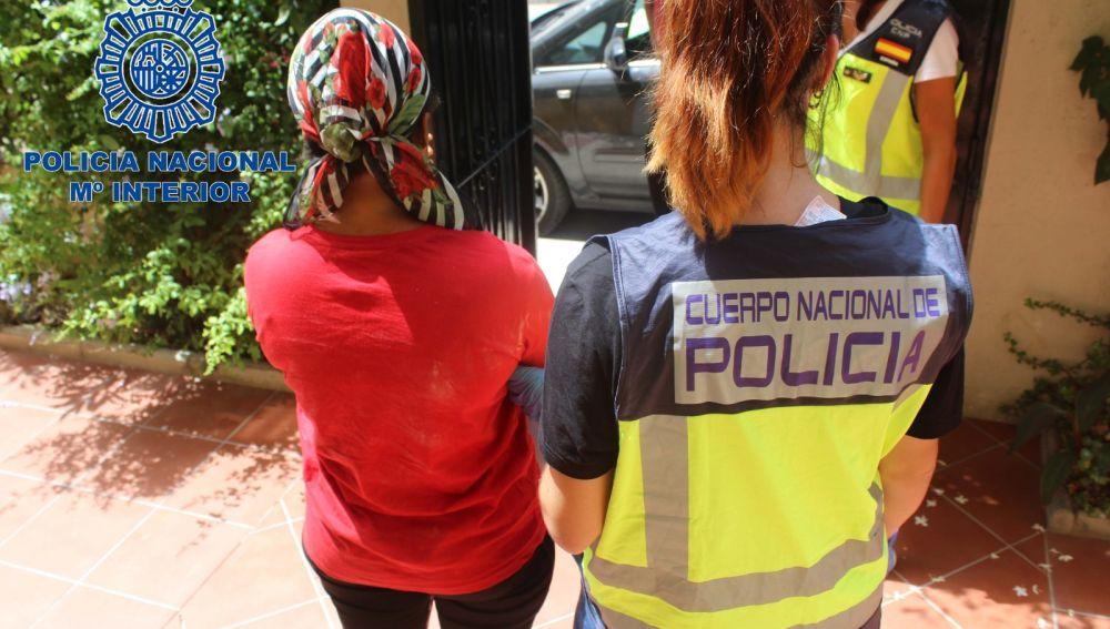 Operación contra la trata en Málaga
