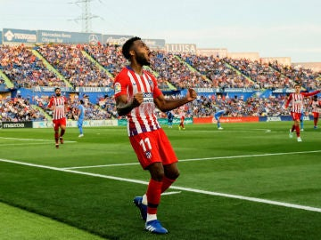 Thomas Lemar celebra un gol